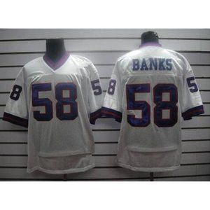 Carl Banks White Stitched Jersey